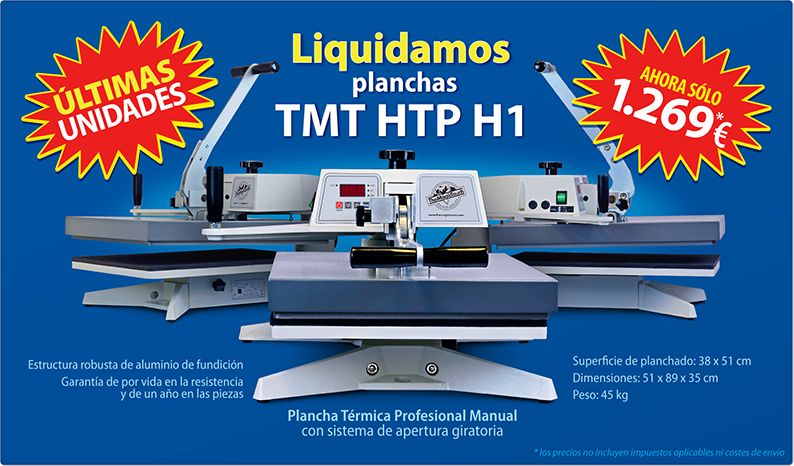Oportunidad Planchas Térmicas Profesionales HTP H1 TheMagicTouch