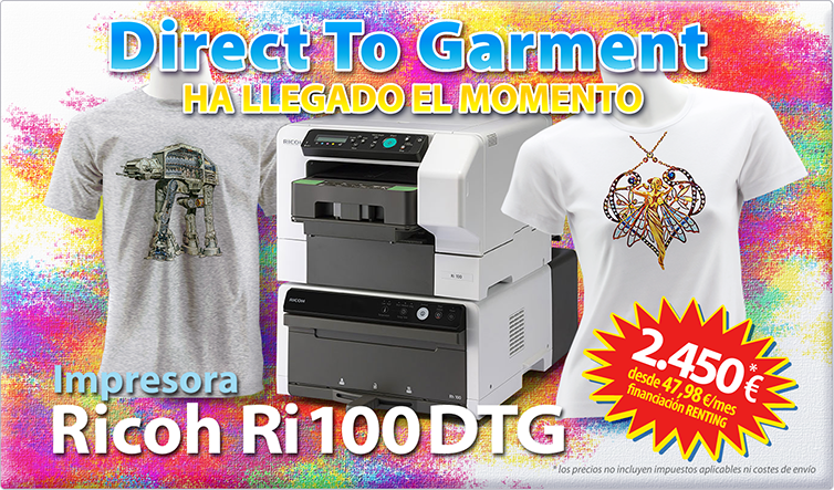Nueva Impresora Ricoh Ri 100 DTG Impresión Directa a Prenda