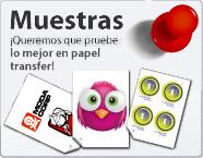 Muestras gratuitas de papel transfer