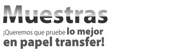 Papel transfer muestra gratuita