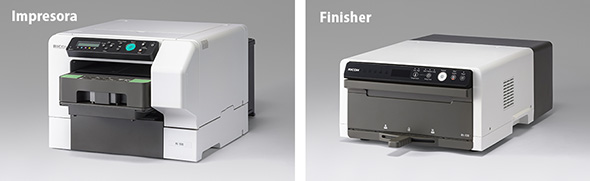 Impresora y Finisher Ricoh Ri 100 DTG